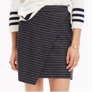 Madewell asymmetrical wool mini skirt